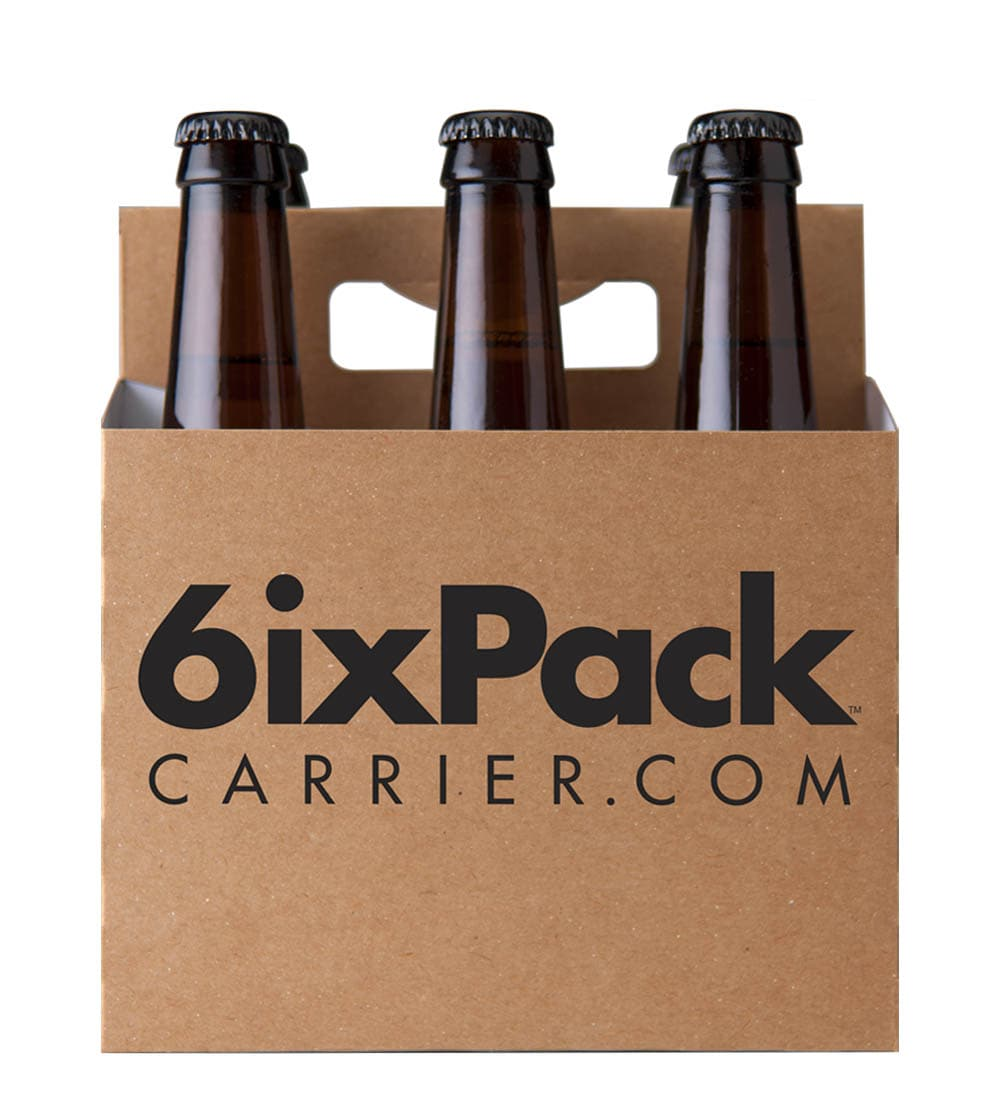 Six pack holder template