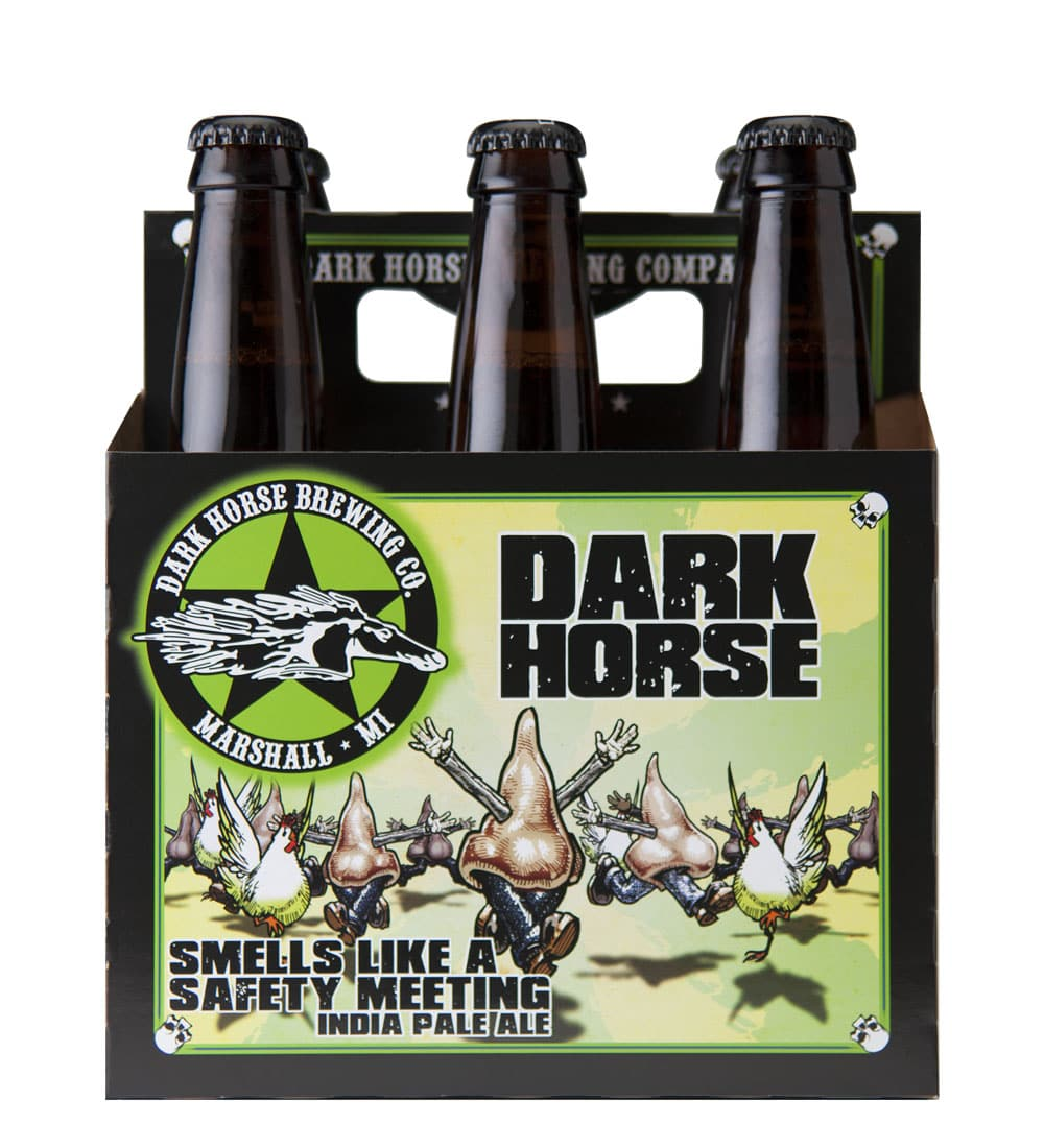 Dark Horse 6 pack beer carrier