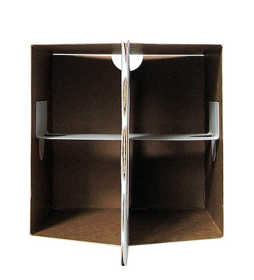 four pack cardboard beer carrier structure