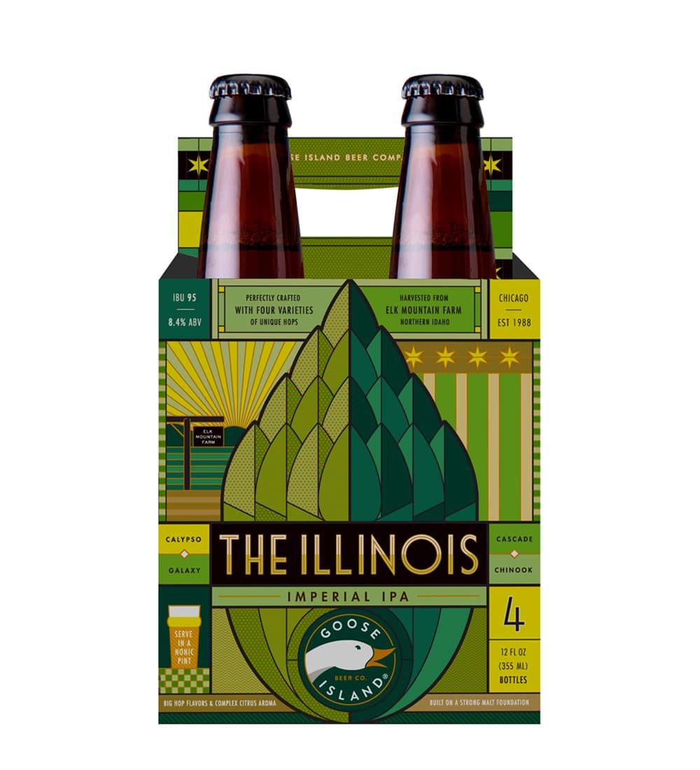 4 pack goose island illinois beer carrier