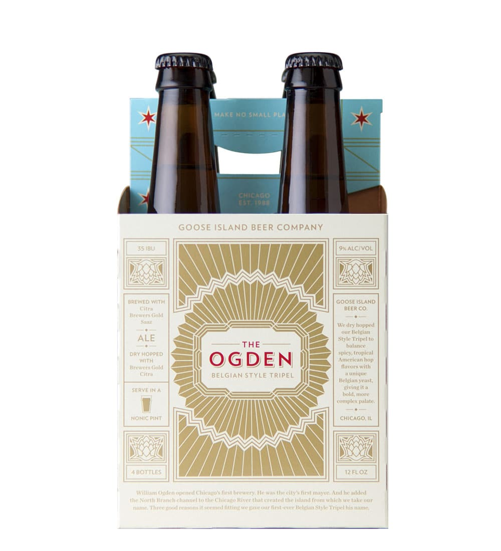4 pack goose island ogden beer carrier