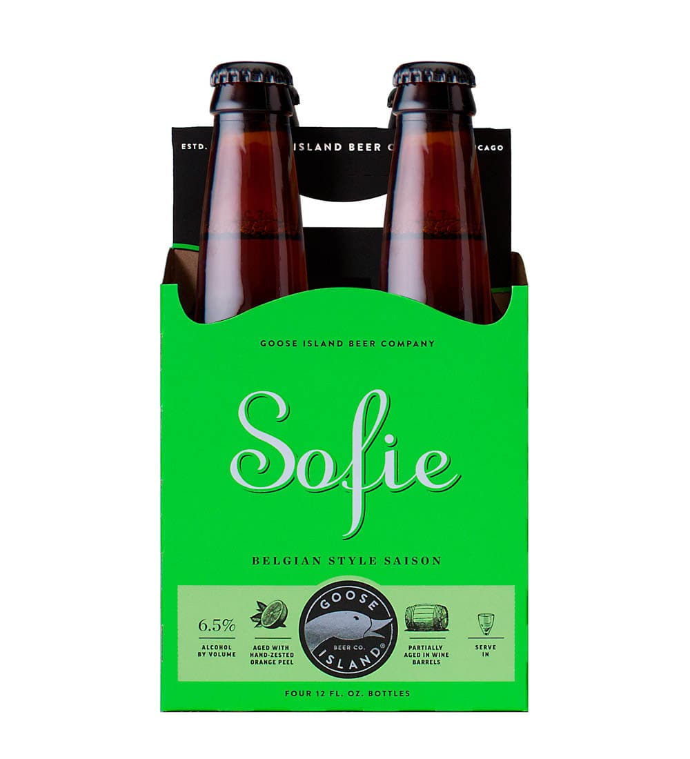 4 pack goose island sofie beer carrier